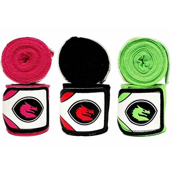 MORGAN MEXICO ELASTIC SHORT BOXING HAND WRAPS - 108inch - 2.75m long  (PAIR)