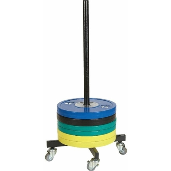 MORGAN BUMPER PLATE STACKER WITH WHEELS