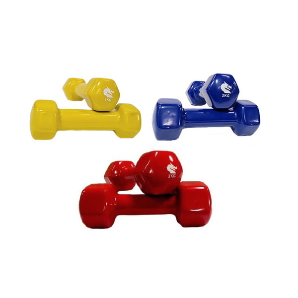 MORGAN VINYL DUMBBELLS - PAIR (1kg-2kg-3kg)